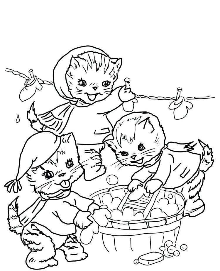 3 Little Kittens Coloring Page Kittens Coloring Cat Coloring