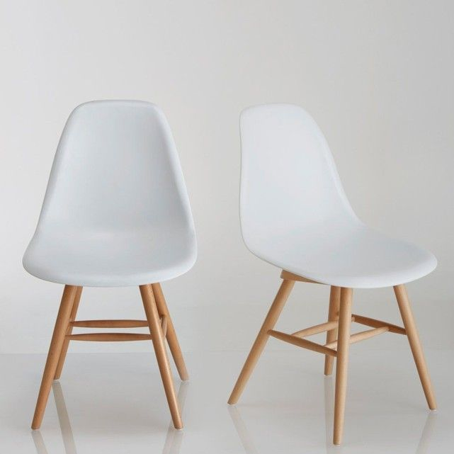 Lot De 2 Chaises A Coque Plastique Jimi Mobilier De Salon Chaise Design Meuble Maison
