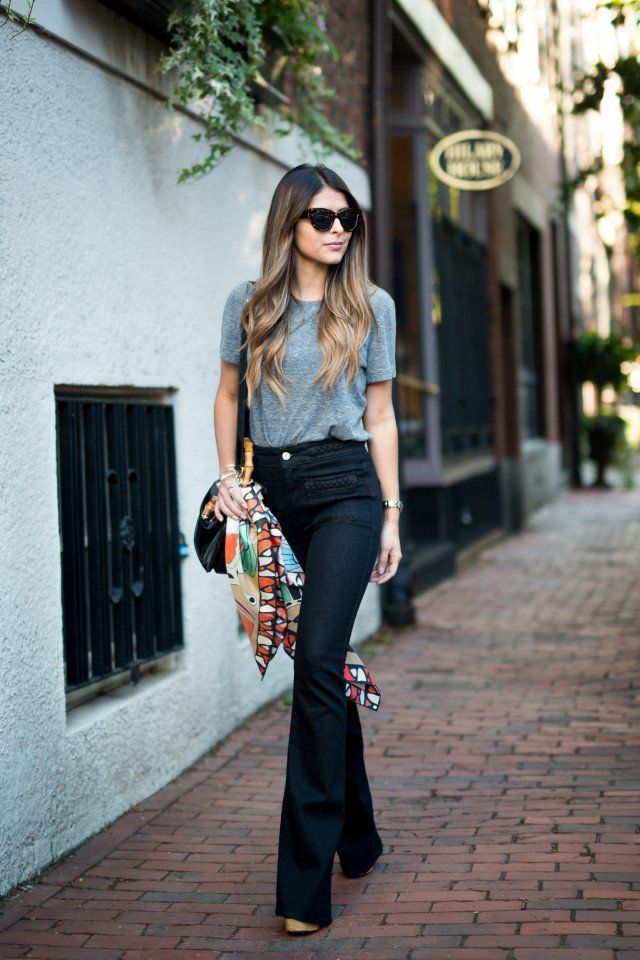 3152d9f6e2  22 Coolest Ways to Wear Flared Jeans  Pretty Designs waysify