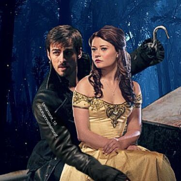 Hook & Belle ❤️ #onceuponatime #captainhook #bellefrench