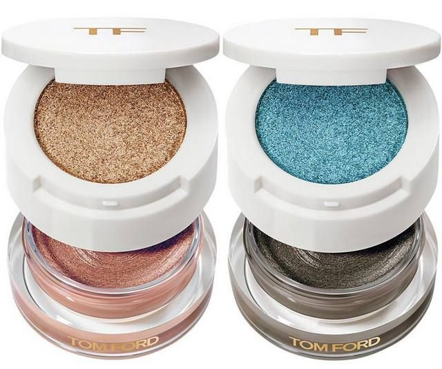Tom Ford Soleil Collection Summer 2015 - Cream & Powder Eye Color – Limited Edition - Golden Peach - Midnight Sea