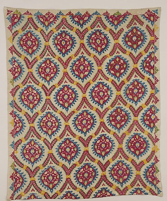 Hanging Date: 16th–17th century Geography: probably Turkey Culture: Islamic Medium: Linen, silk; plain weave, embroidered