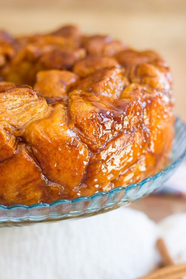 Honey Cinnamon Monkey Bread. Sweet, sticky, short-cut monkey bread made with flaky honey-butter biscuits, and drenched in honey-cinnamon syrup!