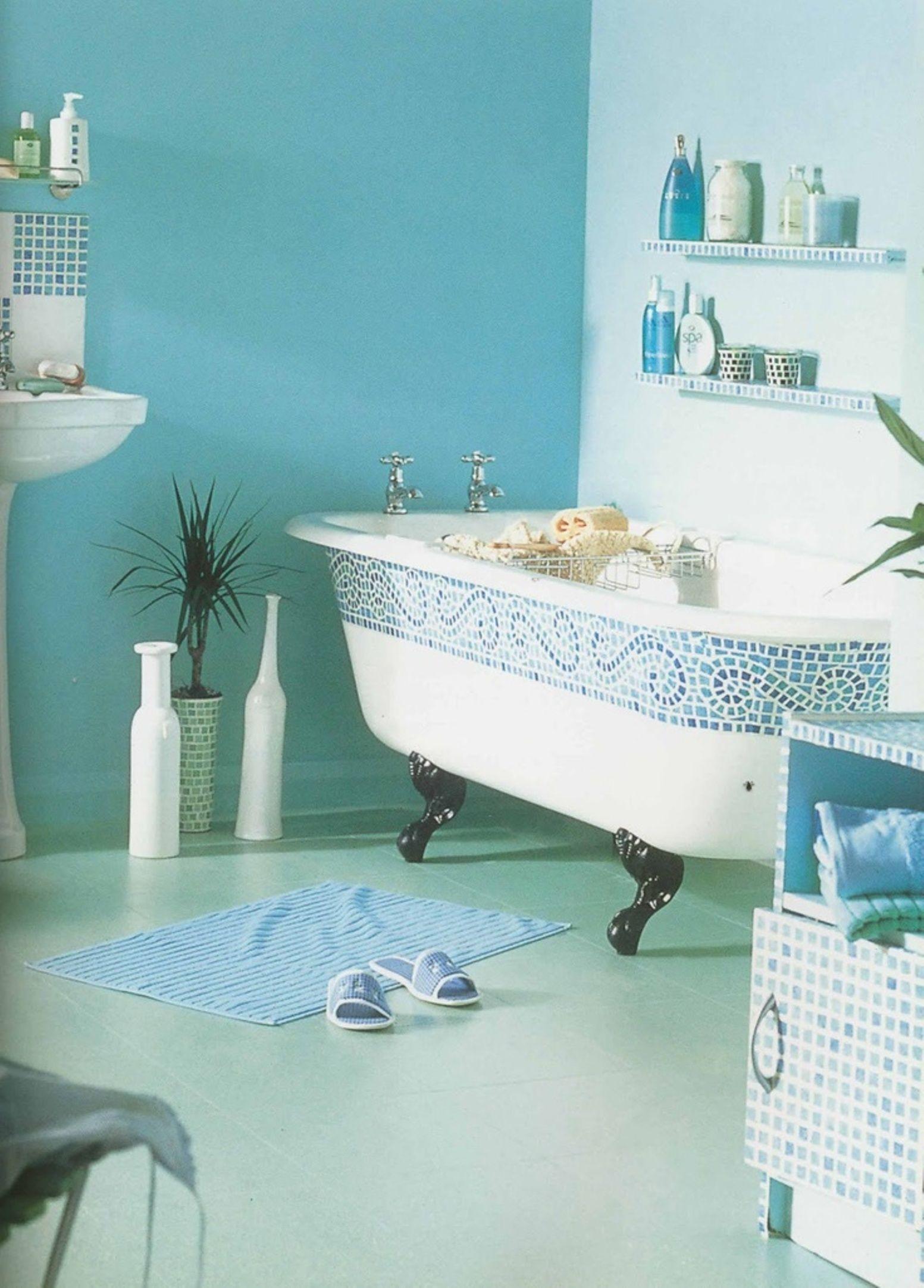 Bathroom , Popular Bathroom Paint Colors : Adorable Turquoise ...