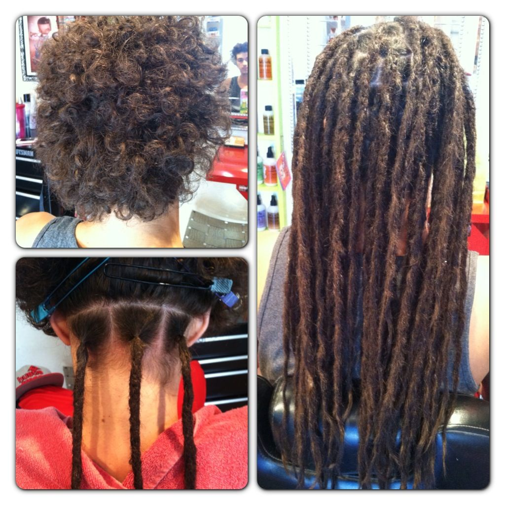 Before After Human Hair Dreadlock Extensions Dollylocks Fake