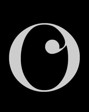 Letra O mayúscula de la tipografía Wachinanga. #Typography #Freefont #deFharo #Creative #Fonts #Serif #Numbers #Mayusculas #Uppercase #Letters