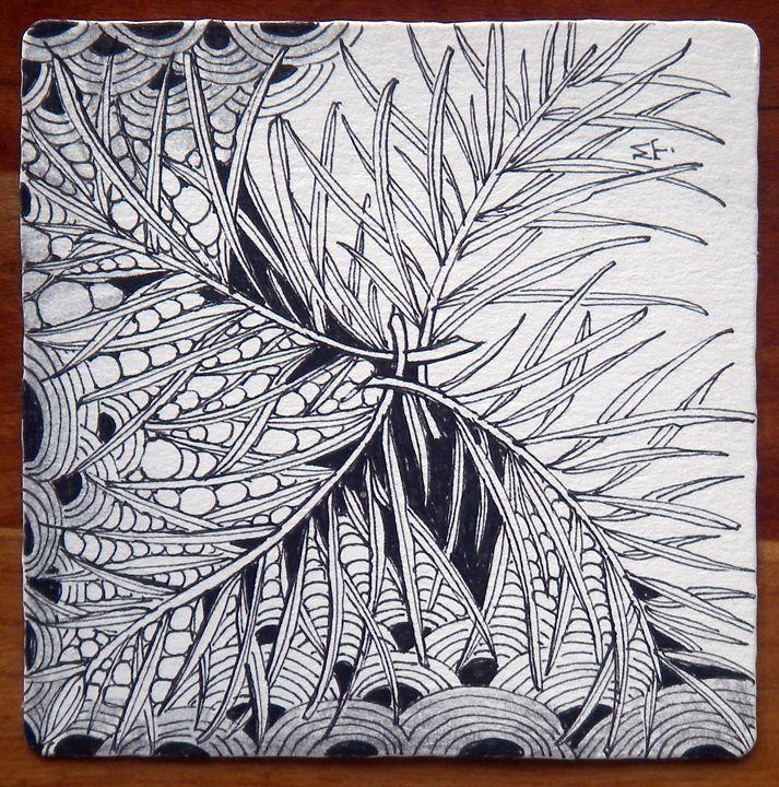 Verdigogh and hollibaugh zentangle drawn by maria thomas