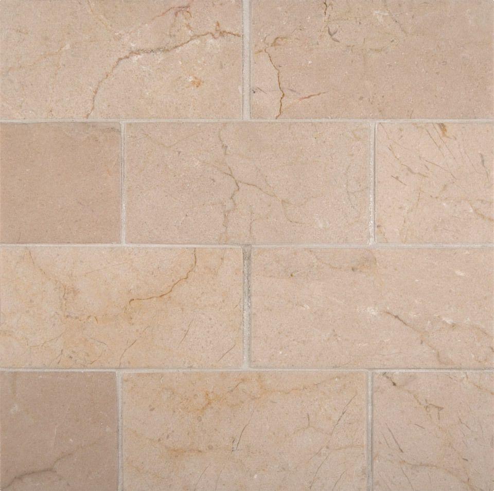 Msi Natural Stone Mosaic Crema Marfil Marble 3x6 Honed And Beveled Subway Tile