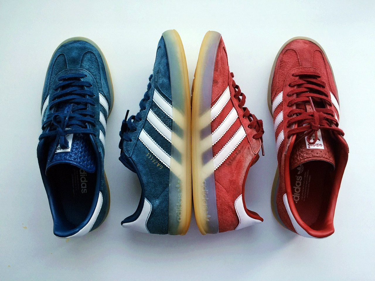 Adidas Gazelle Indoor: True Blue & Nomad Red | Things