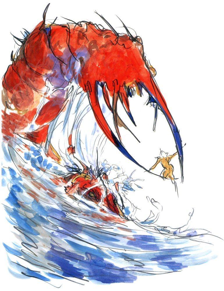 Yoshitaka Amano - Karlabos - Final Fantasy V
