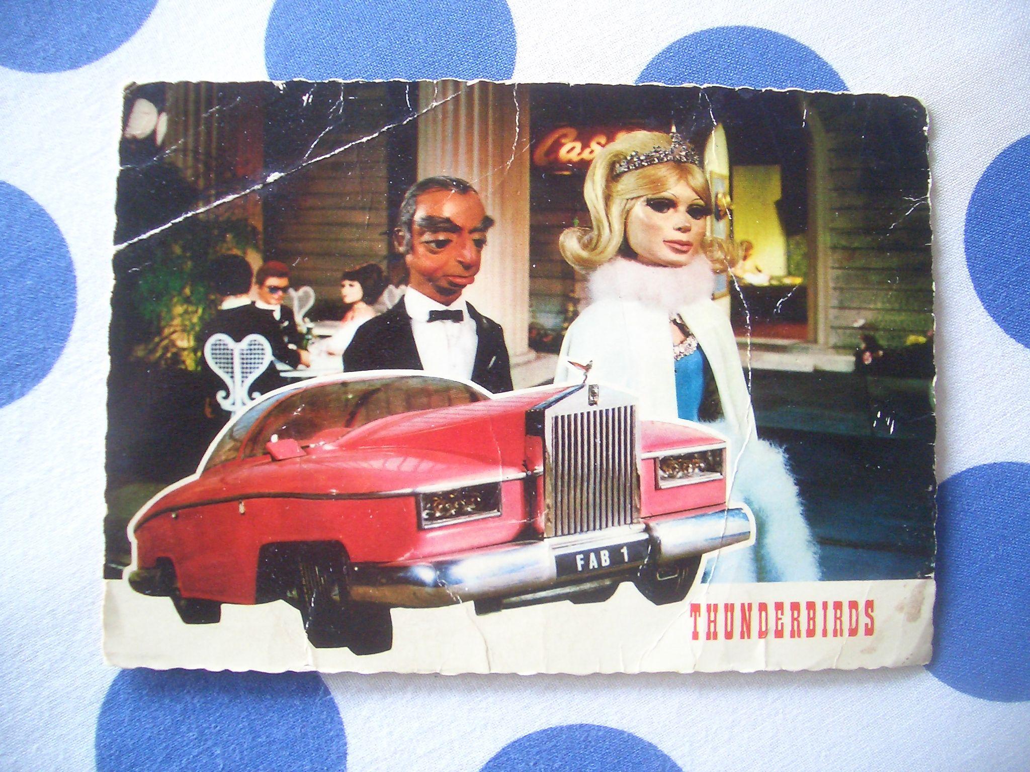 Een kaart van de TV serie Thunderbirds!
