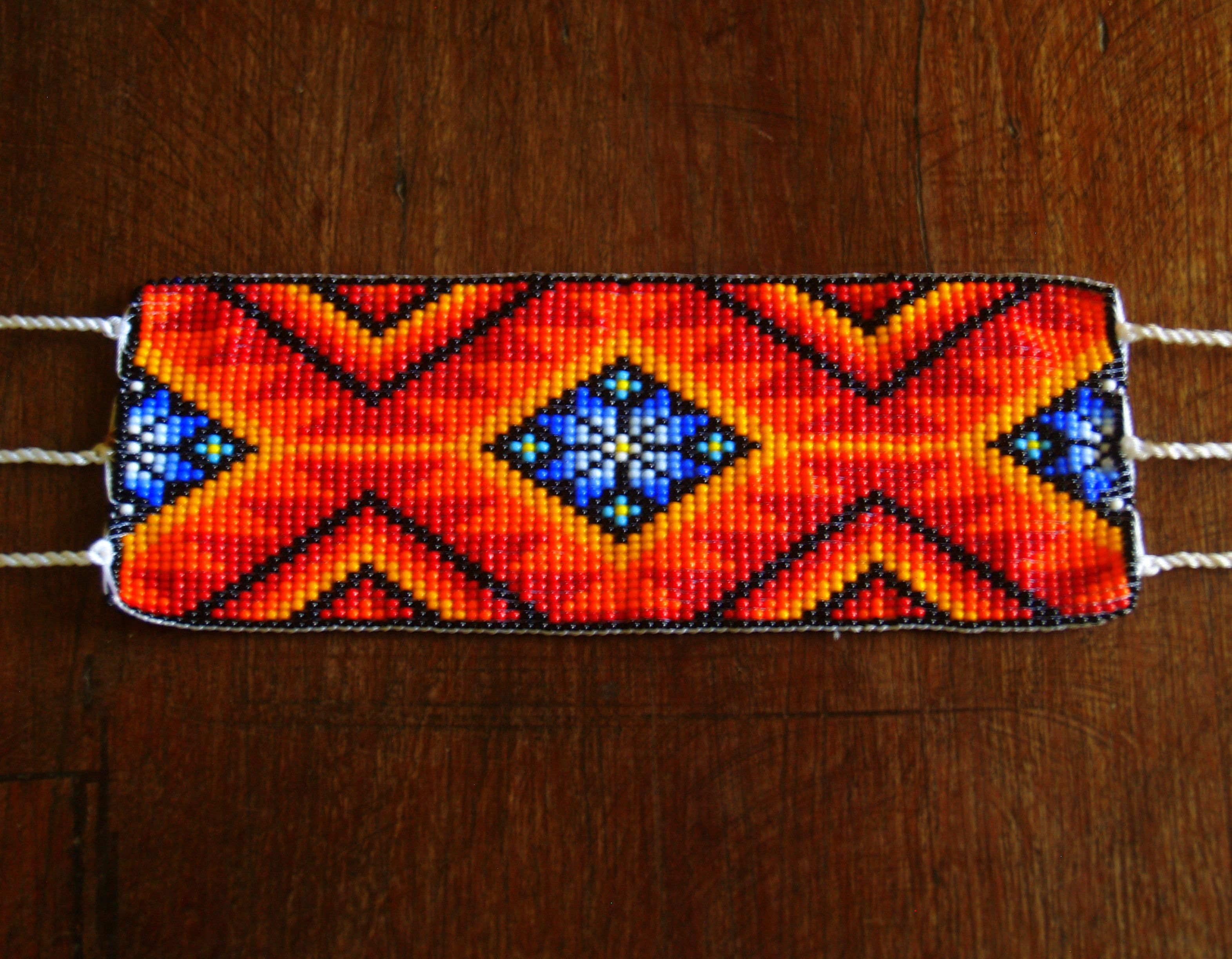 Hand Beaded Huichol Bracelet, check it out at www.facebook.com/BazaarArtisani