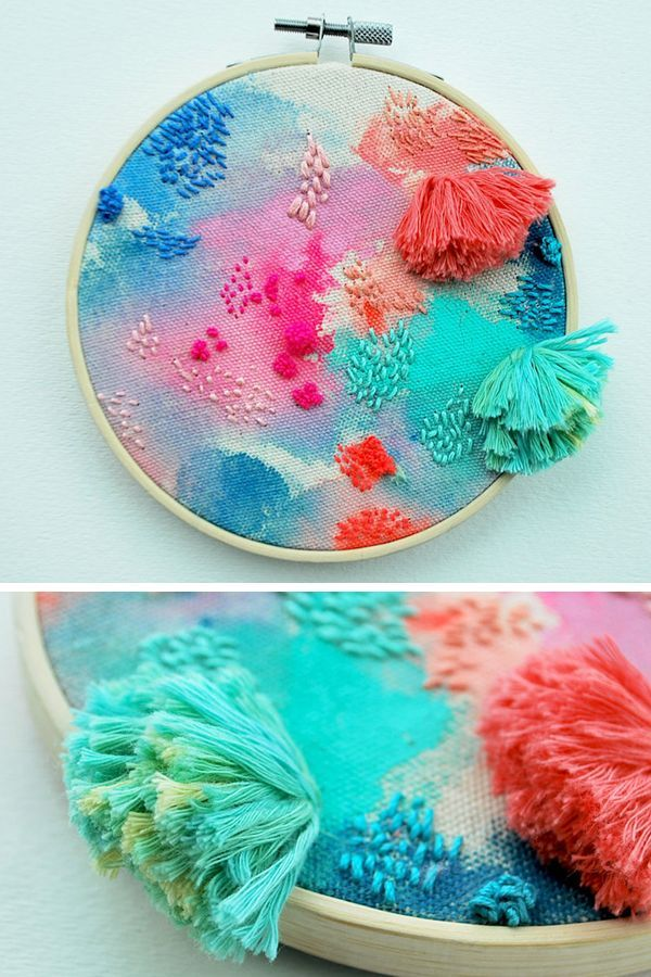 Tactile Hoop Art Inspired by the Colorful Beauty of Floating Gardens #textiles