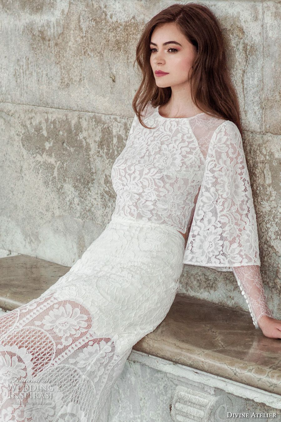 Divine atelier wedding dresses lace skirt atelier and bohemian