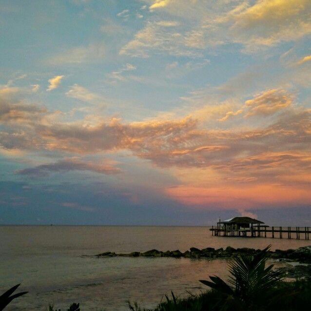 Love these summer evenings . . . #andros #island #Bahamas #beach #resort