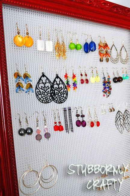 Plastic Canvas Sheets | Stubbornly Crafty: Quick & Simple Earring Holder