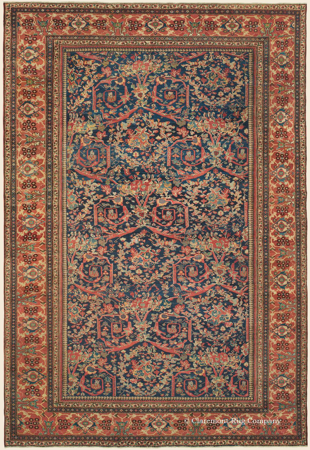 Sultanabad 12 3 X 18 4 Circa 1875 West Central Persian Antique Rug Claremont Rug Company Antique Persian Carpet Rugs Rugs On Carpet