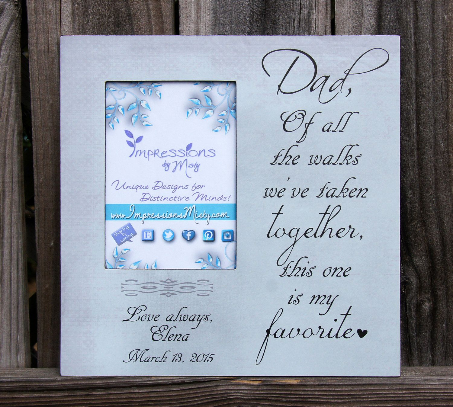 Personalized Picture Frame, Father Daughter Frame, Picture Frame ...