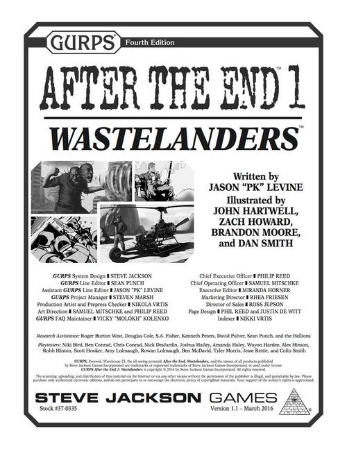 GURPS After the End 1: Wastelanders – Cover | GURPS The most