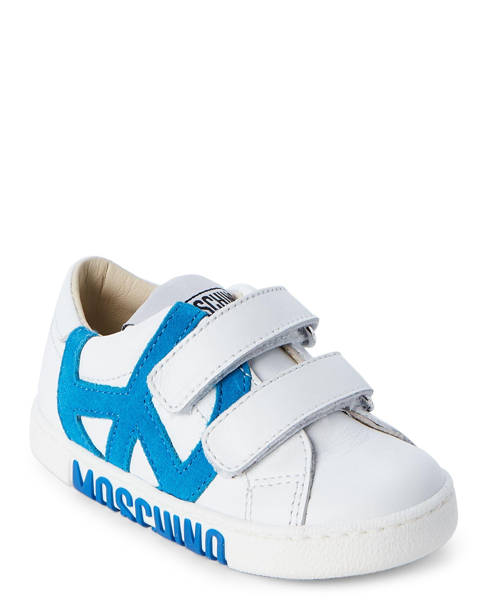Moschino (Toddler Boys) White Leather