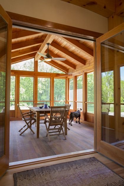 Sunroom Addition Off Kitchen French Doors