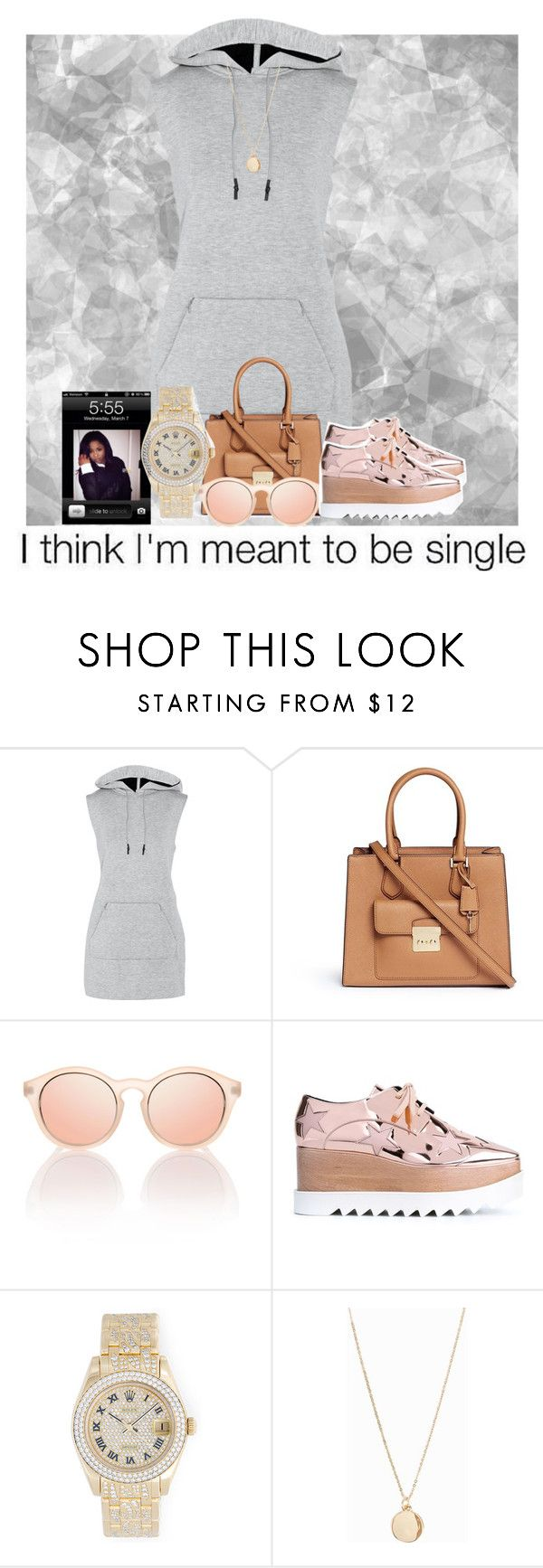 """SINGLE"" by royal-t-1 ❤ liked on Polyvore featuring T By Alexander Wang, Michael Kors, STELLA McCARTNEY, Rolex and NLY Accessories"