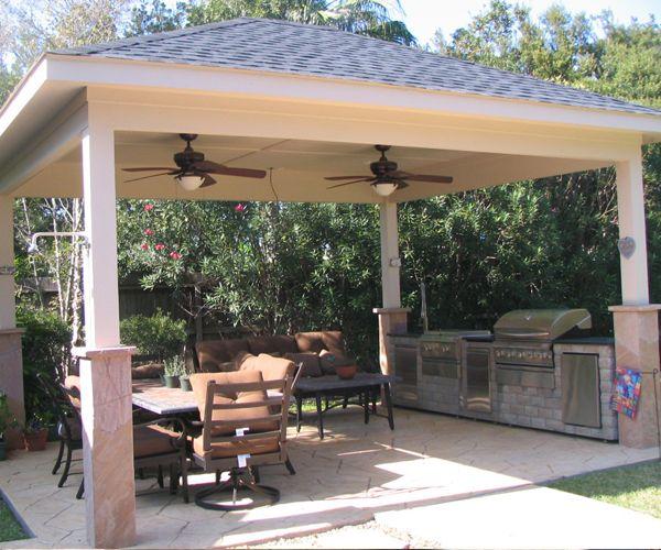 Outdoor Kitchen Roof: Outdoor Living Spaces