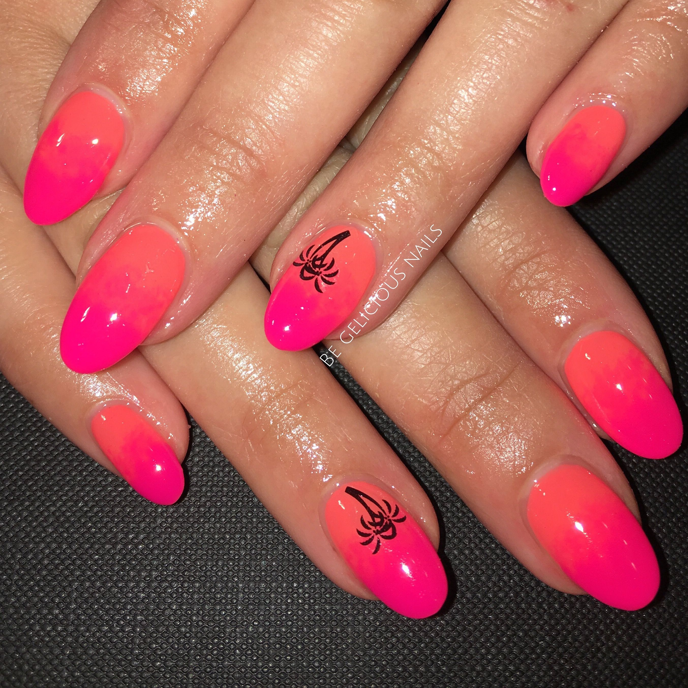 Calgel Nails, Nail Art, Nail Design, Ombré Nails, Pink