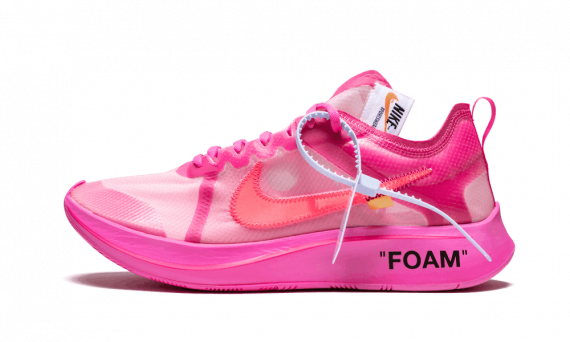 Nike Off White The 10 OW Zoom Fly Tulip Pink Free Shipping