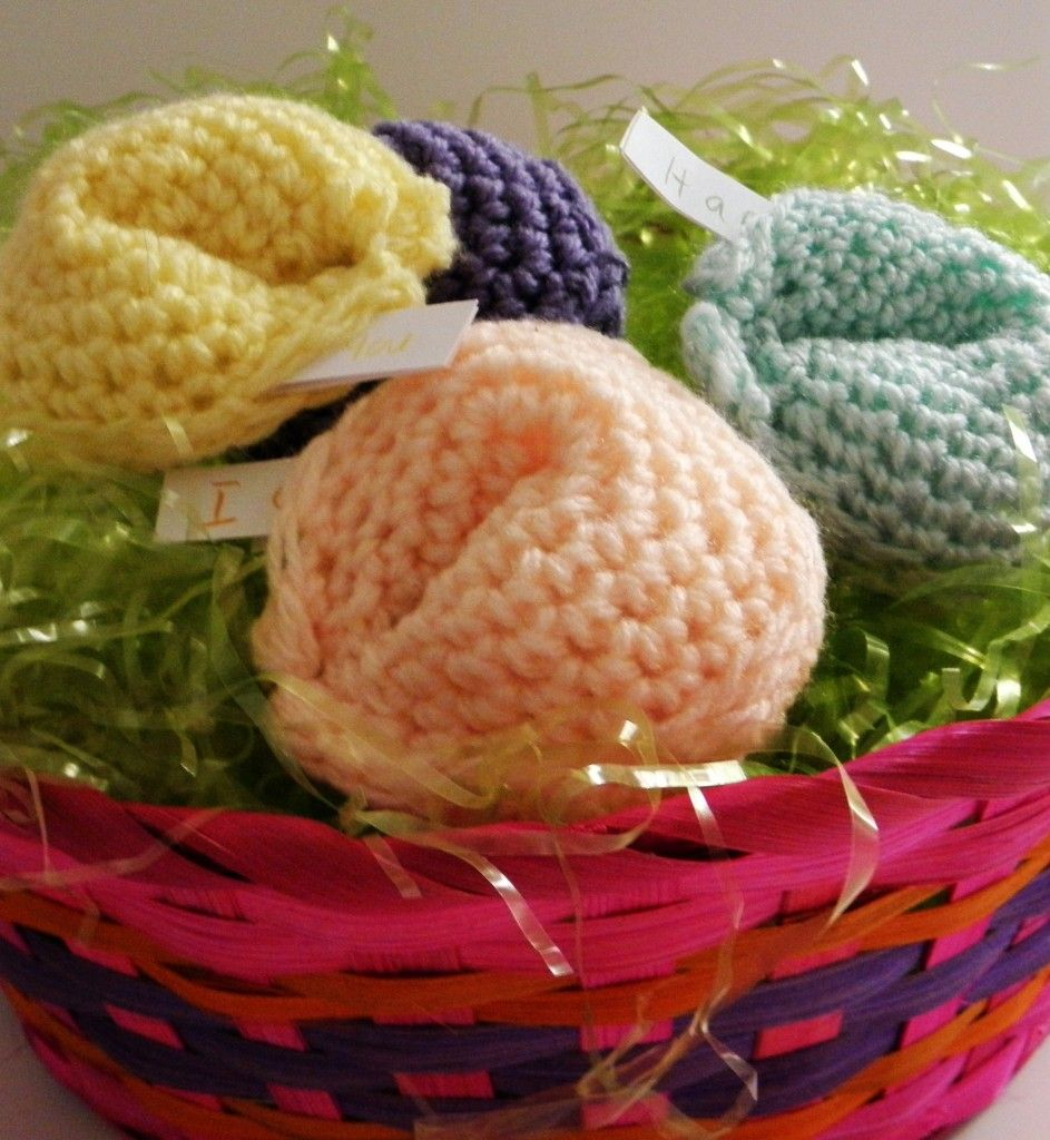 Sharing is Caring Easter Blog Hop. Crocheted pastel fortune cookies ...