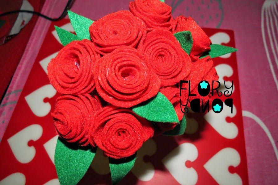 Rosas de fieltro | Manualidades