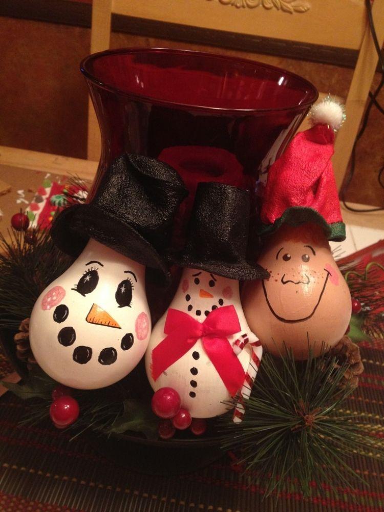 alte gl hbirnen upcyclen und bemalen basteln pinterest gl hbirnen weihnachtsschmuck und alter. Black Bedroom Furniture Sets. Home Design Ideas