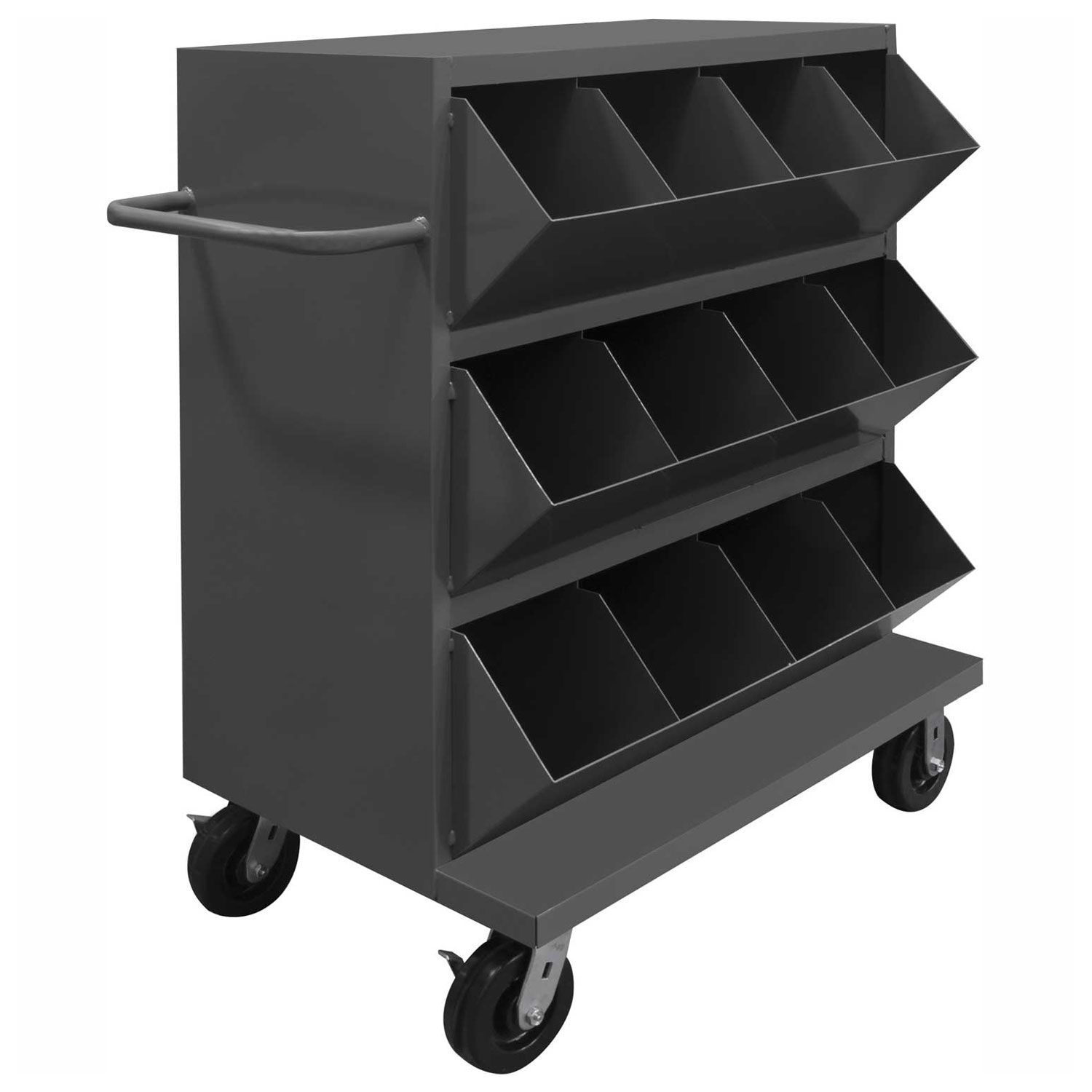Bins Totes Containers Bins Racks Wall Panels Durham Heavy Duty Steel Mobile Storage Bin Msb12 2036 95 12 Mobile Storage Storage Shelves Storage Cart