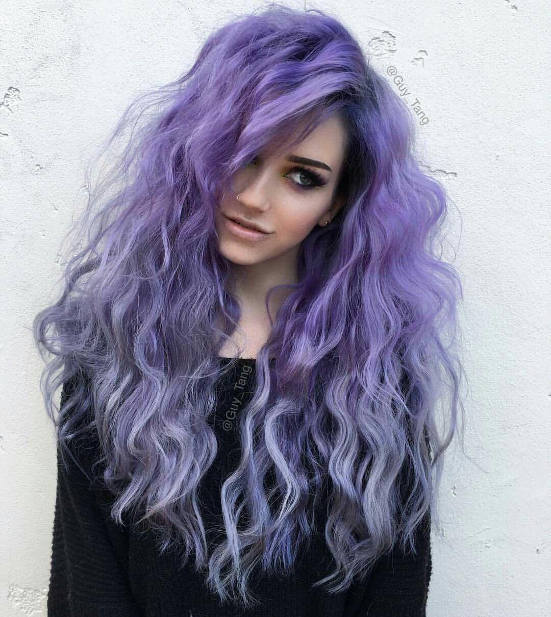 I Loooooooove This Purple Curly Hair Lilac Hair Violet Hair Colors Hair Styles