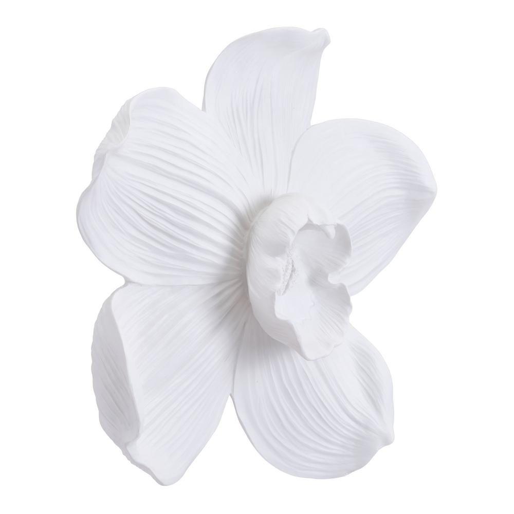 dec78ba4f3 Orchid Resin White Large Wall Decor in 2019 | Products | Grey wall ...