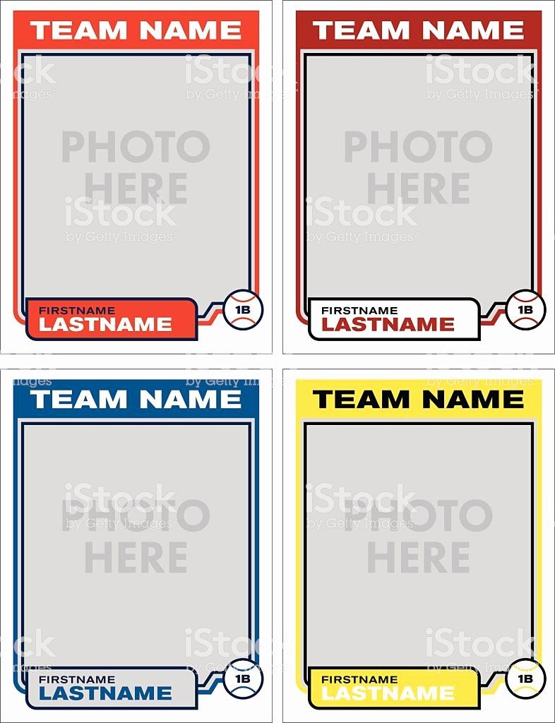 Free Baseball Card Template Download Inspirational Baseball Card Vector Template Stock Vector Trading Card Template Baseball Card Template Card Templates Free