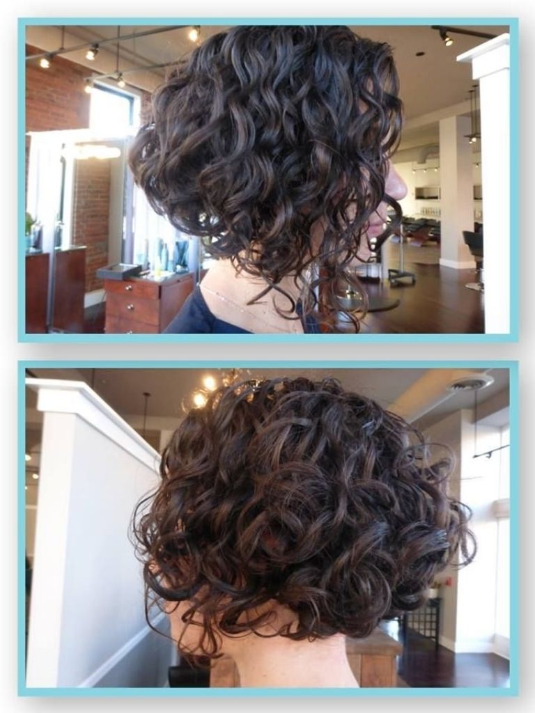 Pin By Cindy Garza On Hairygirl Pinterest Curly Inverted Bob