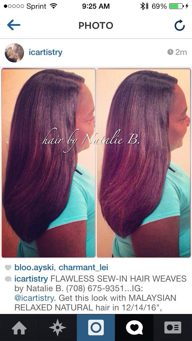 Flawless Sew In Hair Weaves By Natalie B 708 675 9351 Ig Icartistry Get This Look With Mal Weave Hairstyles Long Weave Hairstyles Burgundy Natural Hair