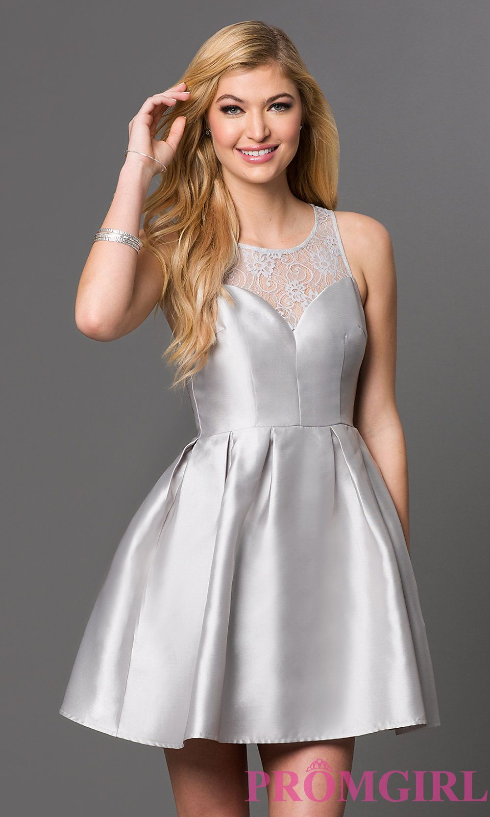 Short Sequin Hoco Party Dress by PromGirl   Satin