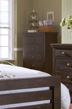 Willow Casual Distressed Black Wood Chest Bedroom Furniture Bedrooms