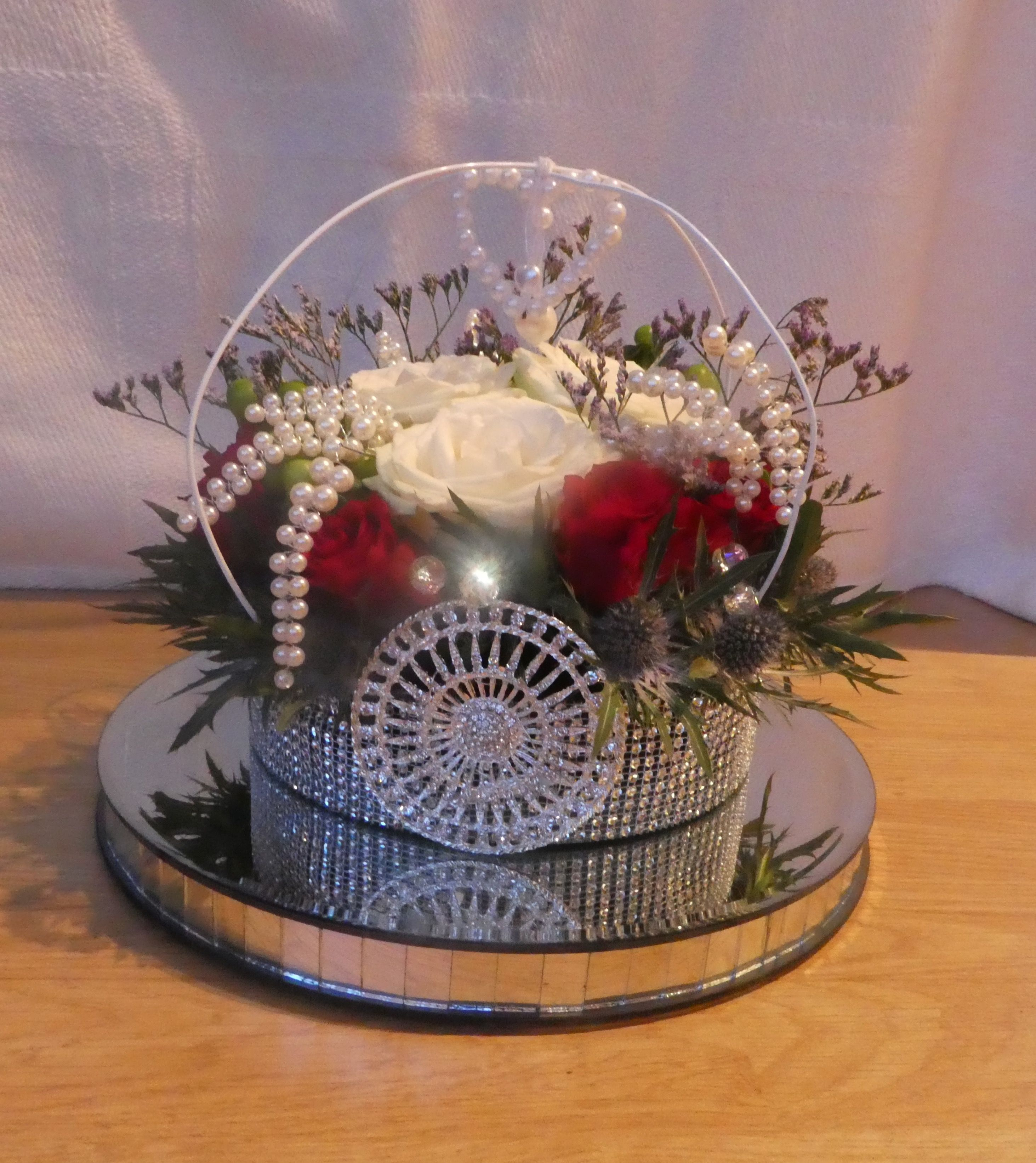 Flower Arrangement For The Queens 90th Birthday Crown With