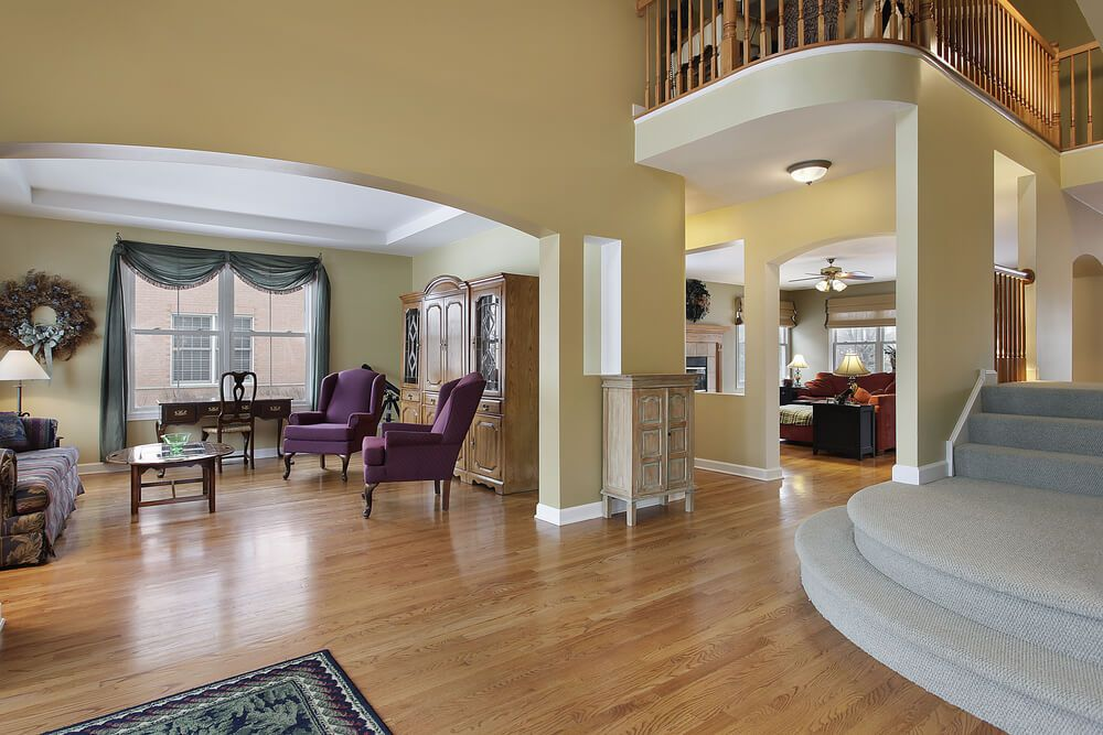 Open Foyer Uk : Large open foyer with view of upper landing leads