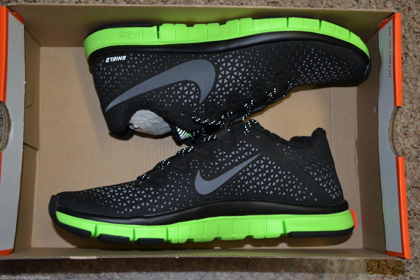 sale retailer 25526 cf7ad Nike Free Haven 3 0 Shield Water Repel Black Green Training Shoes 537773 Sz  6 5  eBay