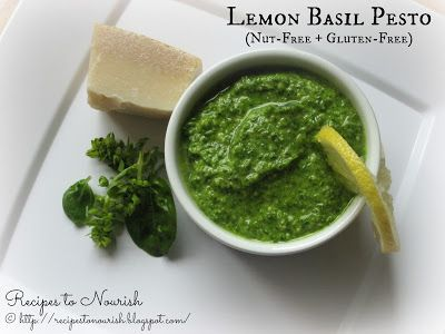 Recipes to Nourish: Lemon Basil Pesto (Nut-Free & Gluten-Free)
