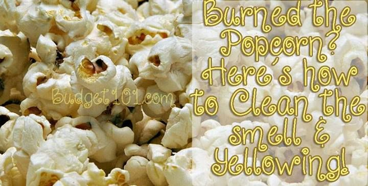 Accidentally burned popcorn in your microwave and now it
