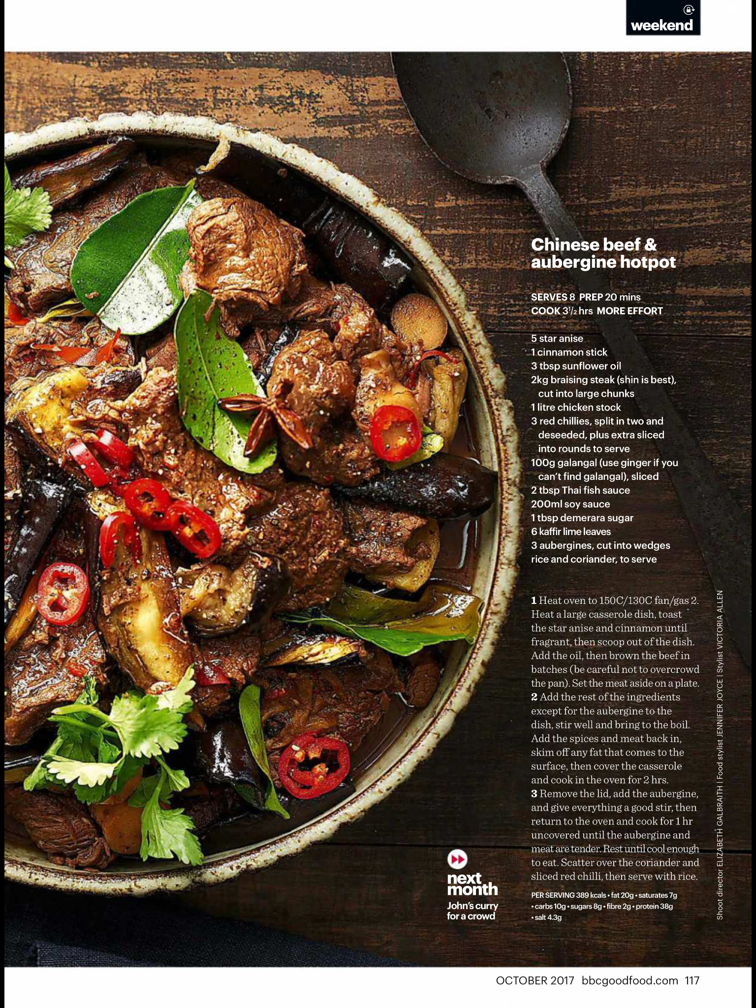 Beef And Aubergine Hot Pot Bbc Good Food Recipes Food Beef Hotpot