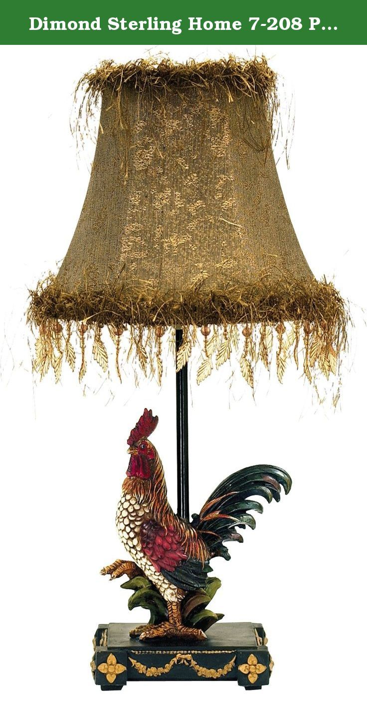 Dimond Sterling Home 7 208 Petite Rooster Table Lamp About E L K Lighting In 1983 Adolf Ebenstein Jonath Rustic Table Lamps Table Lamps For Sale Table Lamp
