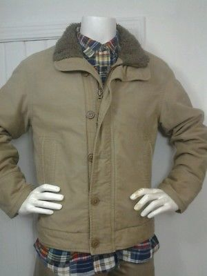 5e7f6b9b2 Details about Abercrombie Fitch Men's Medium Heavy Sherpa Fleece ...