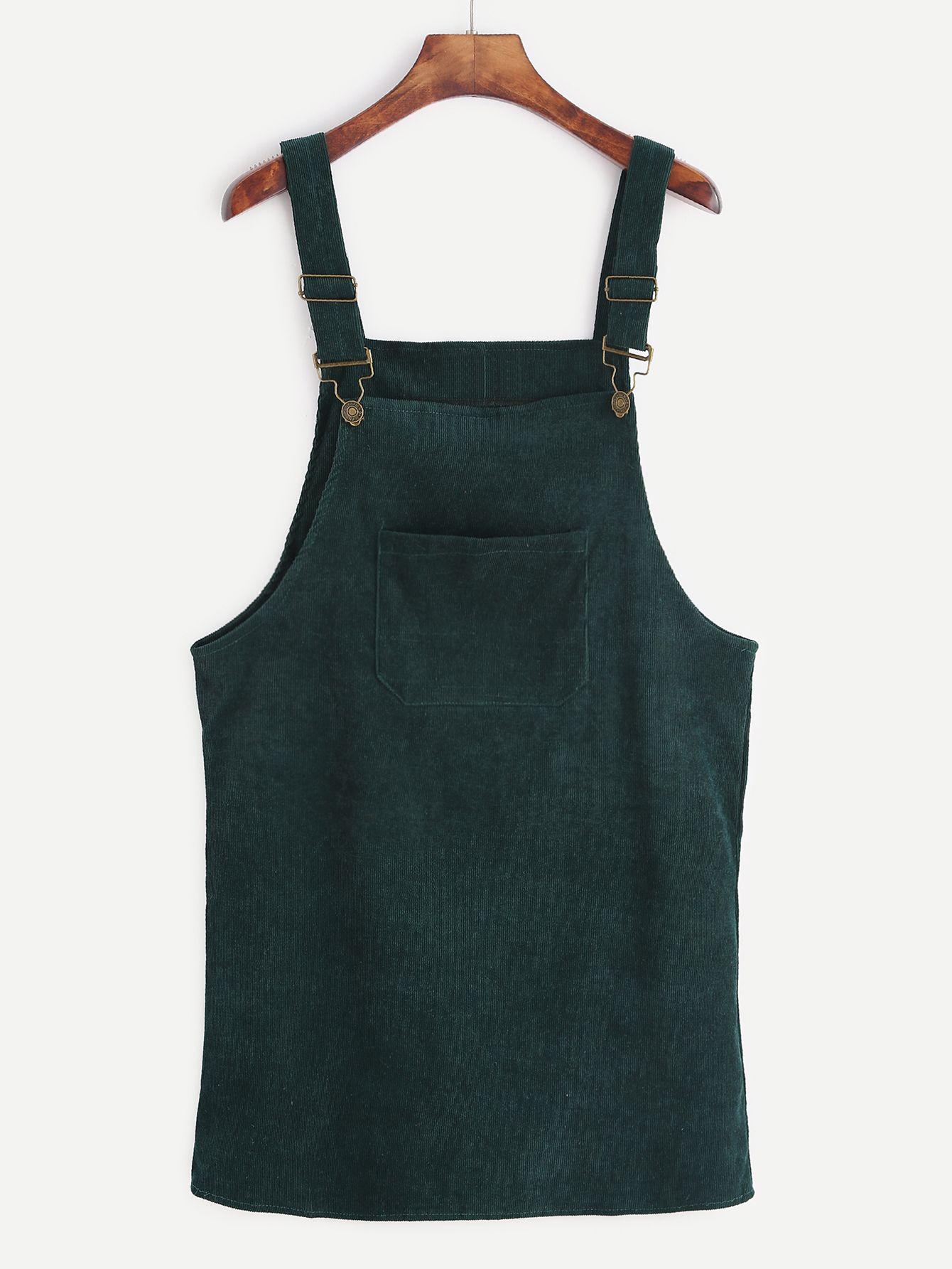Shop Dark Green Corduroy Overall Dress With Pocket Online Shein Offers Dark Green Corduroy Overal Overall Dress Corduroy Overall Dress Corduroy Pinafore Dress [ 1785 x 1340 Pixel ]