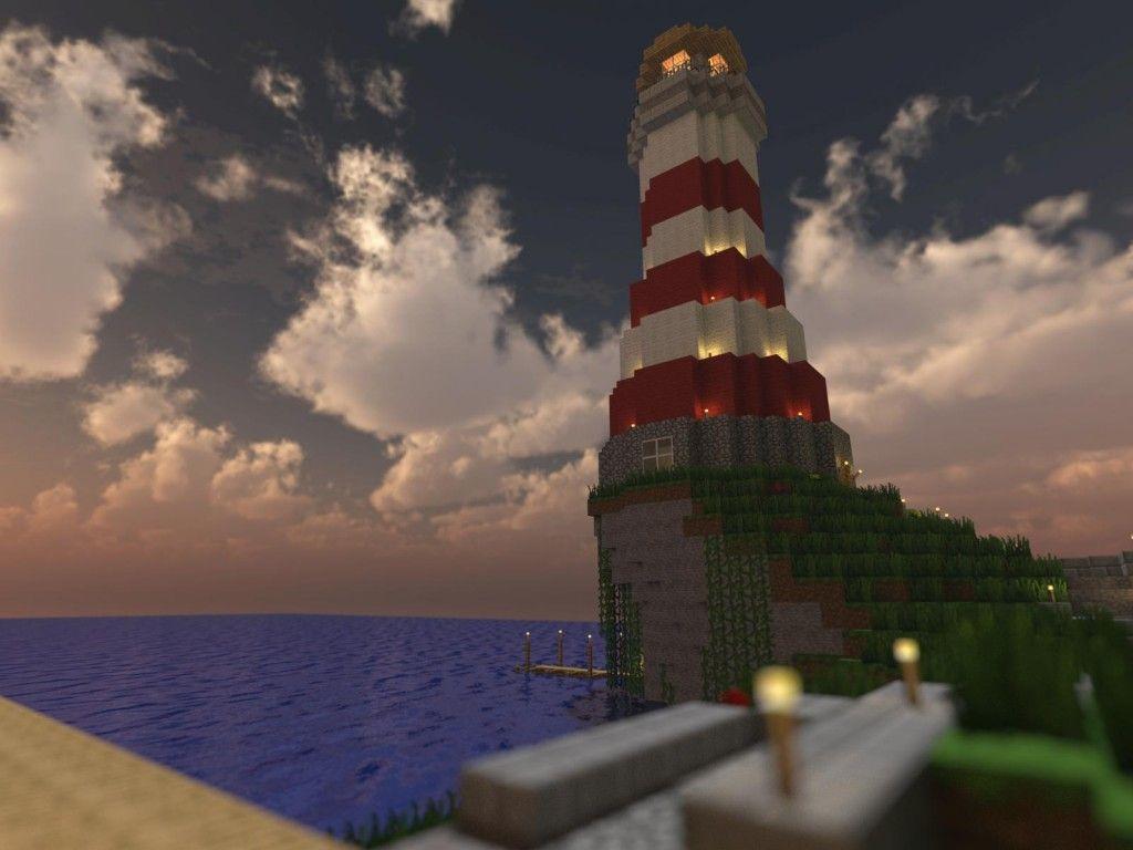 Minecraft Lighthouse Render Minecraft Pinterest Minecraft